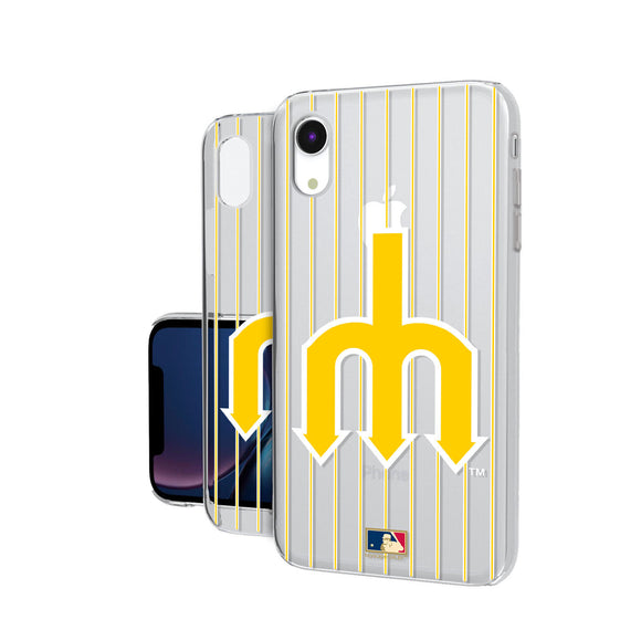 Seattle Mariners 1977-1980 - Cooperstown Collection Pinstripe iPhone XR Clear Case