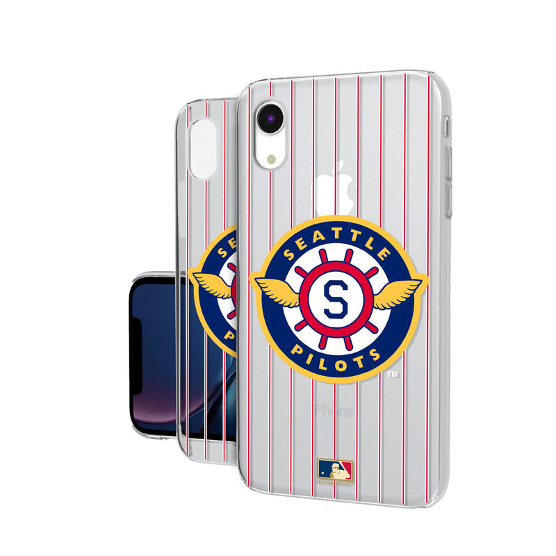 Seattle Pilots 1969 - Cooperstown Collection Pinstripe iPhone XR Clear Case