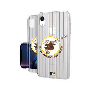 San Diego Padres 1969-1984 - Cooperstown Collection Pinstripe iPhone XR Clear Case