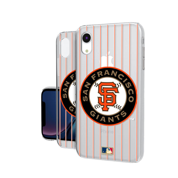 San Francisco Giants 2005-2010 - Cooperstown Collection Pinstripe iPhone XR Clear Case