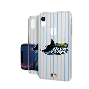 Tampa Bay 1998-2000 - Cooperstown Collection Pinstripe iPhone XR Clear Case
