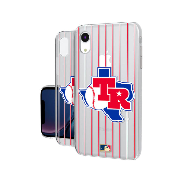 Texas Rangers 1981-1983 - Cooperstown Collection Pinstripe iPhone XR Clear Case