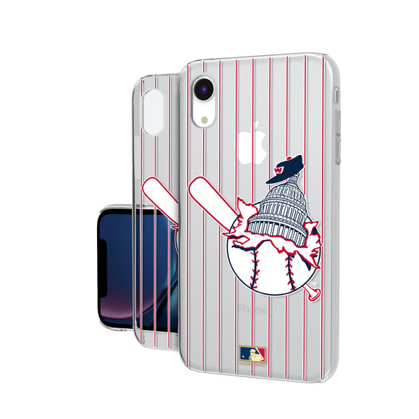 Washington Senators 1953-1956 - Cooperstown Collection Pinstripe iPhone XR Clear Case