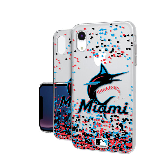 Miami Marlins Marlins Confetti iPhone XR Clear Case