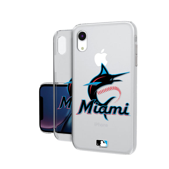Miami Marlins Marlins Insignia iPhone XR Clear Case
