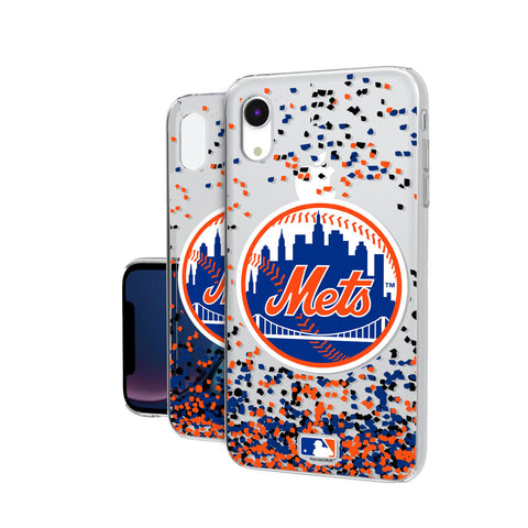 New York Mets Mets Confetti iPhone XR Clear Case
