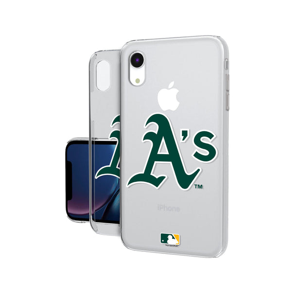 Oakland Athletics Athletics Insignia iPhone XR Clear Case