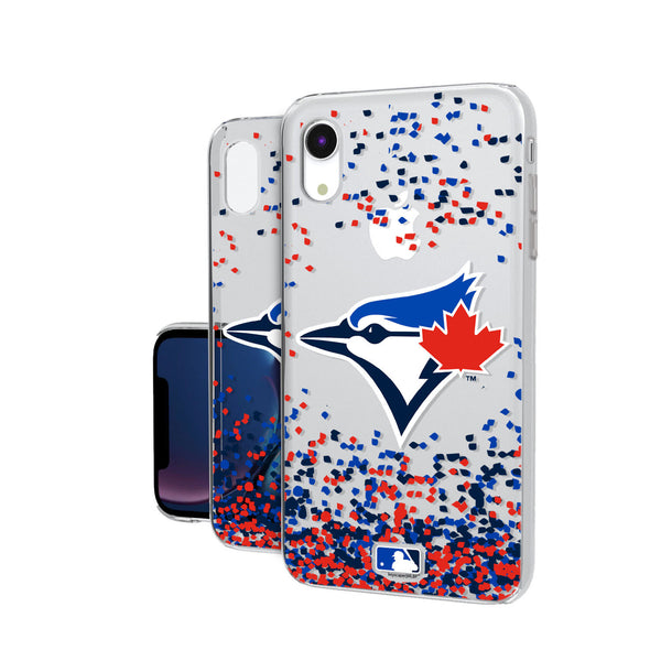 Toronto Jays Confetti iPhone XR Clear Case