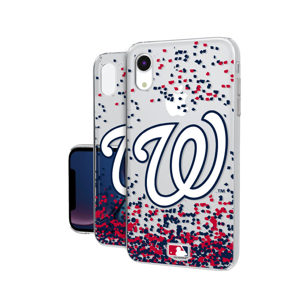 Washington Nationals Confetti iPhone XR Clear Case