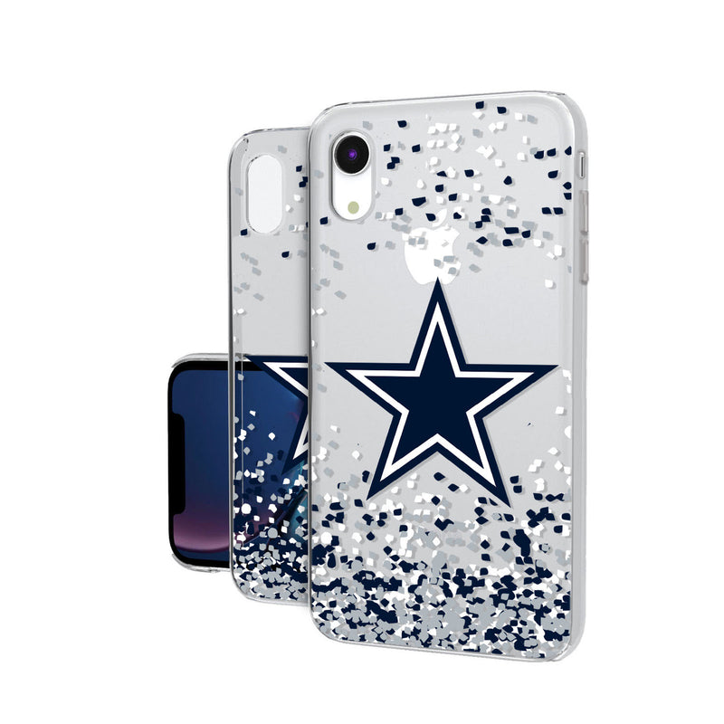 Dallas Cowboys Confetti iPhone XR Clear Case