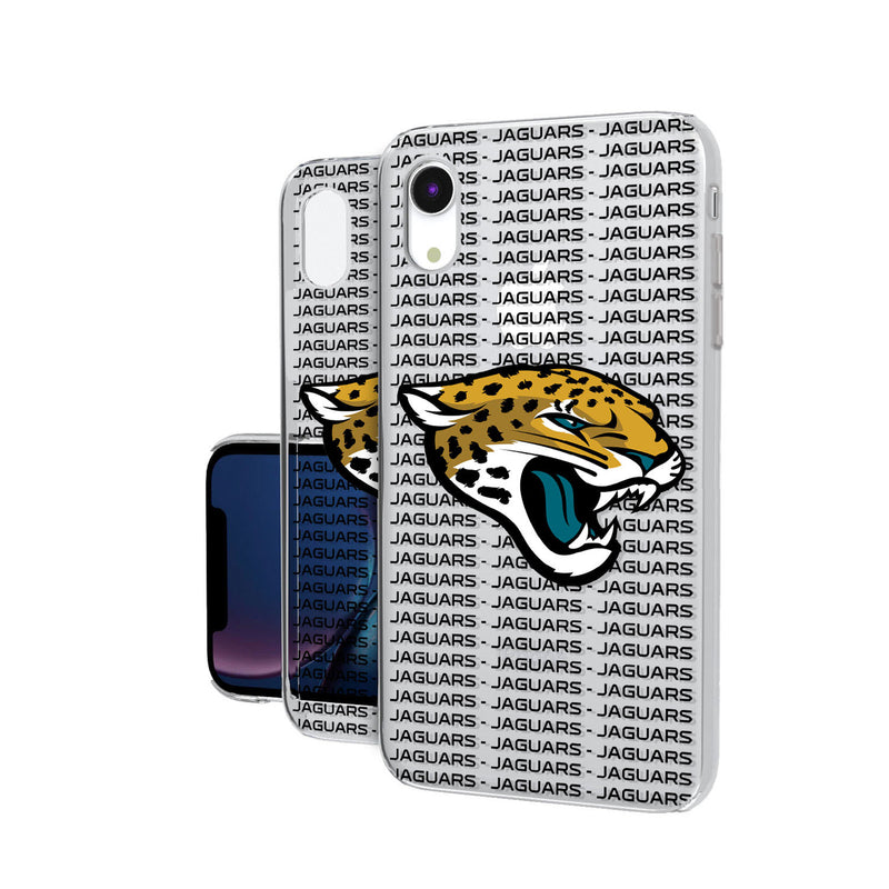 Jacksonville Jaguars Blackletter iPhone XR Clear Case