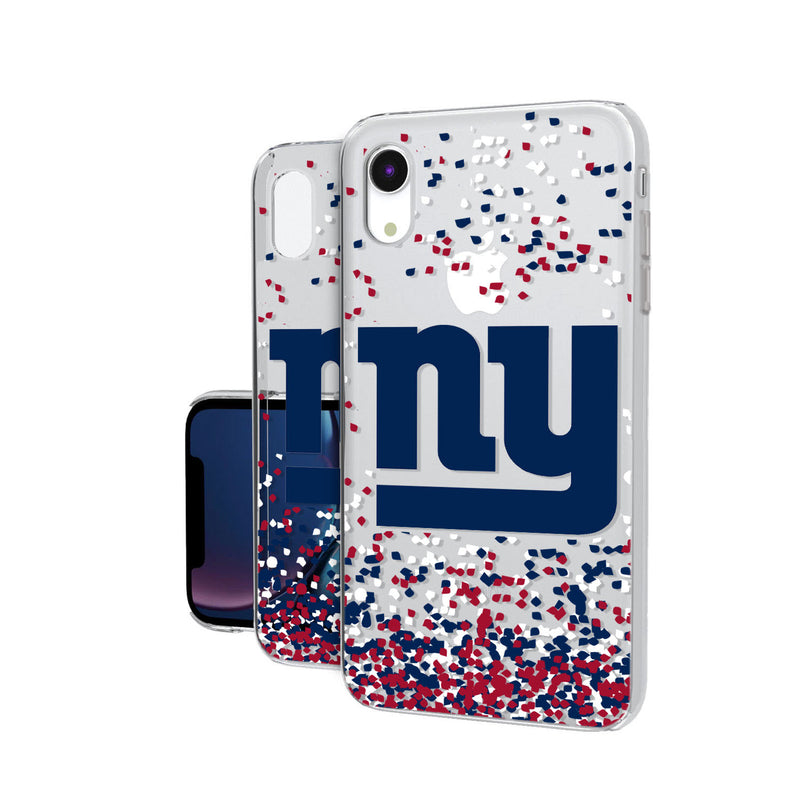 New York Giants Confetti iPhone XR Clear Case