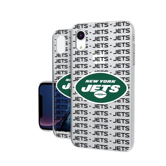 New York Jets Blackletter iPhone XR Clear Case