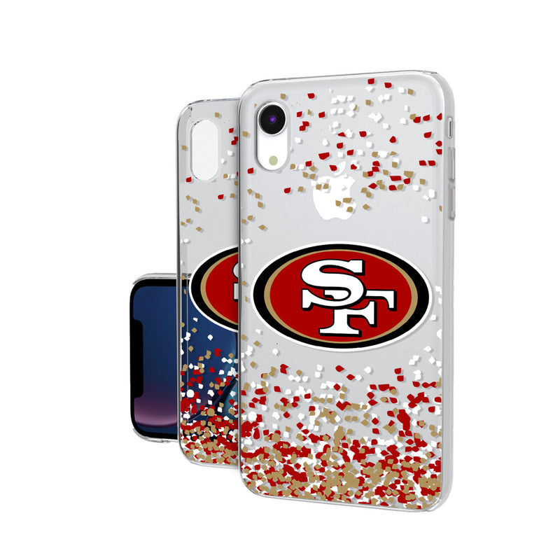 San Francisco 49ers Confetti iPhone XR Clear Case
