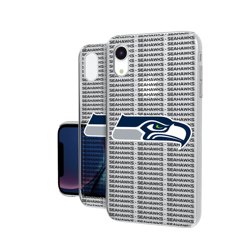 Seattle Seahawks Blackletter iPhone XR Clear Case