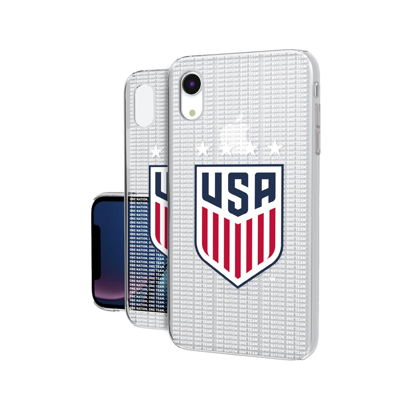United States Womens National Team Blackletter iPhone XR Clear Case