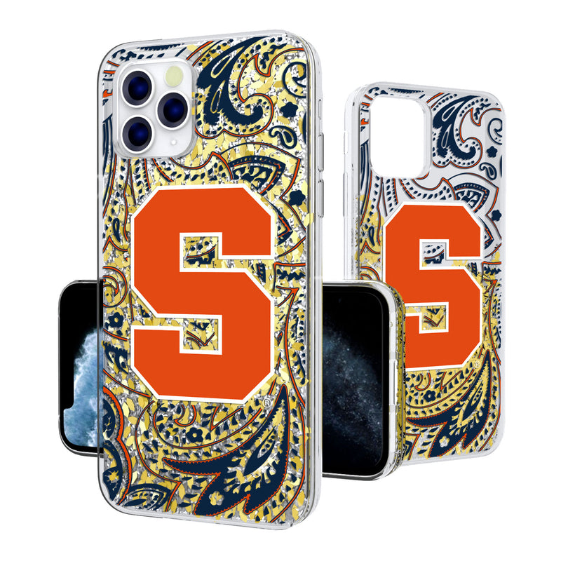 Syracuse Orange Paisley iPhone 11 Pro Max Gold Glitter Case