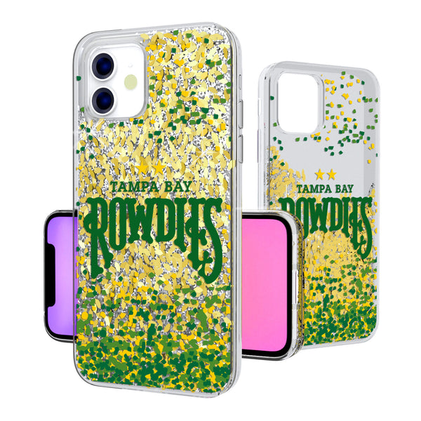 Tampa Bay Rowdies Confetti iPhone 11 Gold Glitter Case