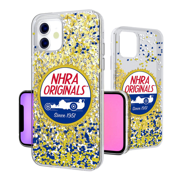 NHRA Confetti iPhone 11 Gold Glitter Case