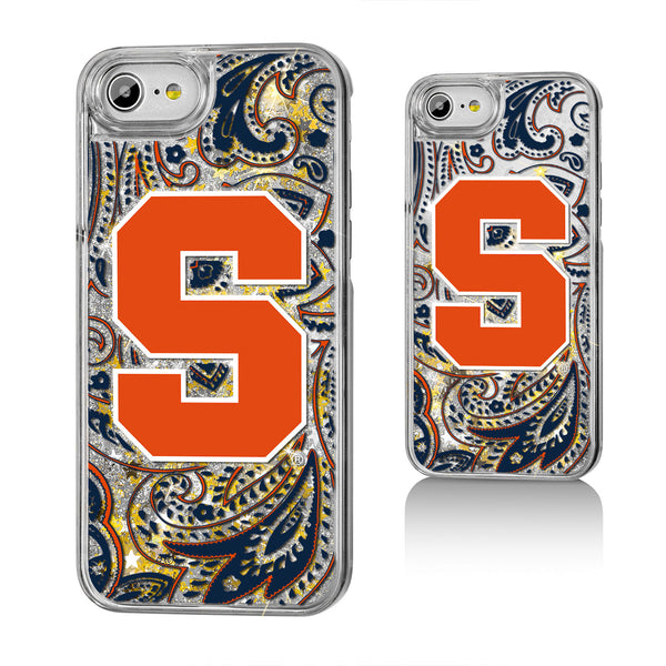 Syracuse Orange Paisley Gold Glitter iPhone 7 / 8 Case