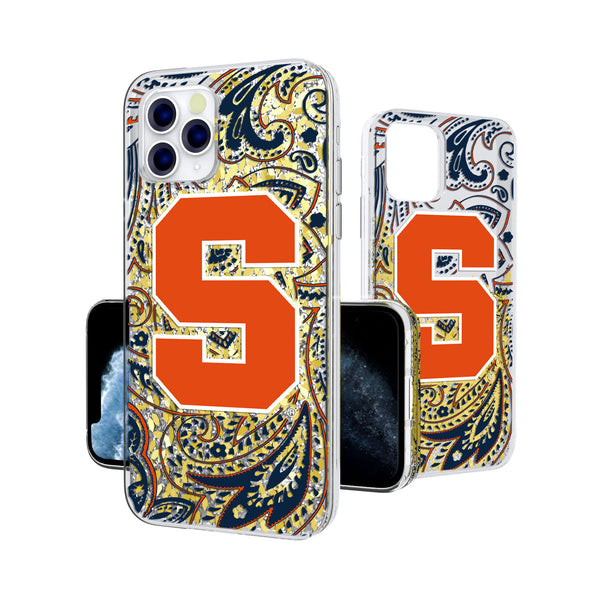 Syracuse Orange Paisley iPhone 11 Pro Gold Glitter Case