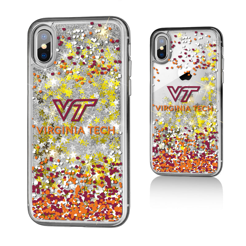 Virginia Tech Hokies Confetti iPhone X / XS Gold Glitter Case