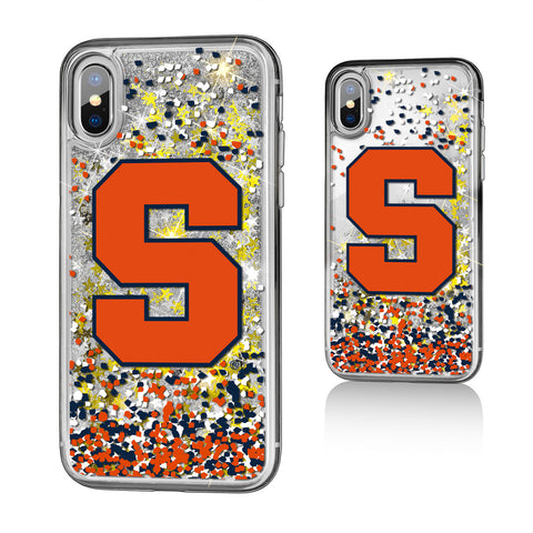 Syracuse Orange Confetti Glitter Case for iPhone X