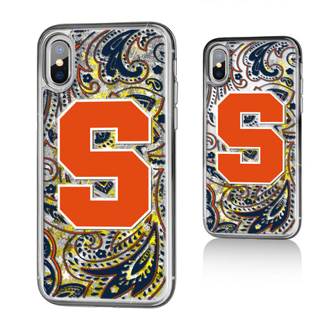 Syracuse Orange Paisley Glitter Case for iPhone X