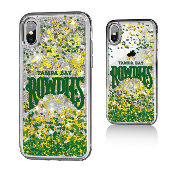 Tampa Bay Rowdies Confetti iPhone X / XS Gold Glitter Case