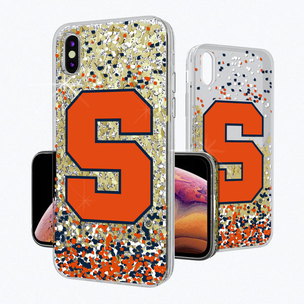 Syracuse Orange Confetti iPhone XS MAX Gold Glitter Case
