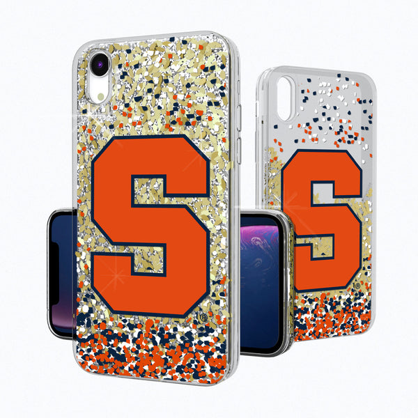 Syracuse Orange Confetti iPhone XR Gold Glitter Case