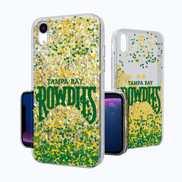 Tampa Bay Rowdies Confetti iPhone XR Gold Glitter Case