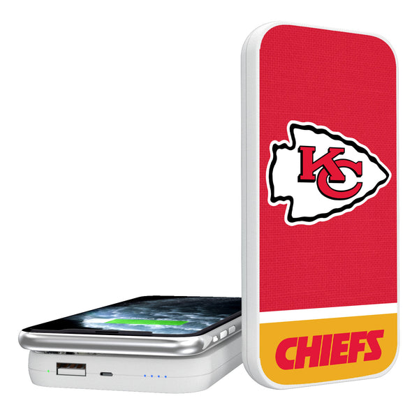 Kansas City Chiefs Solid Wordmark 5000mAh Portable Wireless Charger