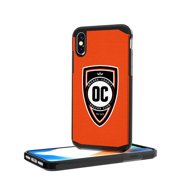 Orange County SC  Solid iPhone X / XS Rugged Case