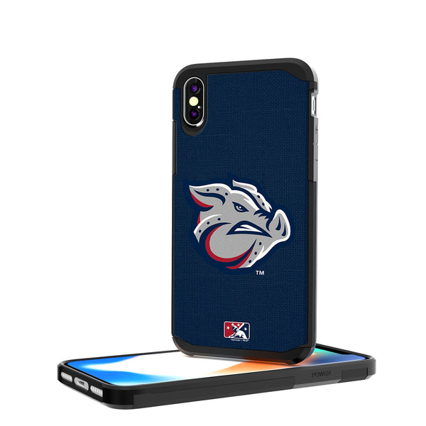 Lehigh Valley IronPigs Solid iPhone X / XS Rugged Case