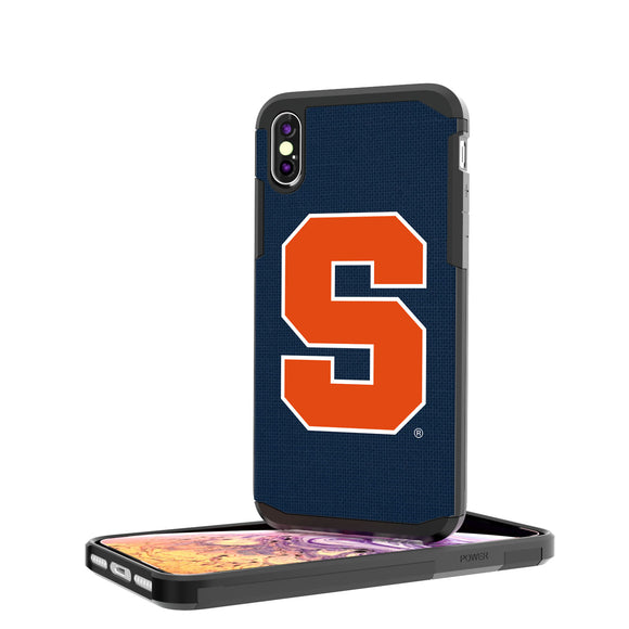 Syracuse Orange Solid iPhone XS Max Rugged Case