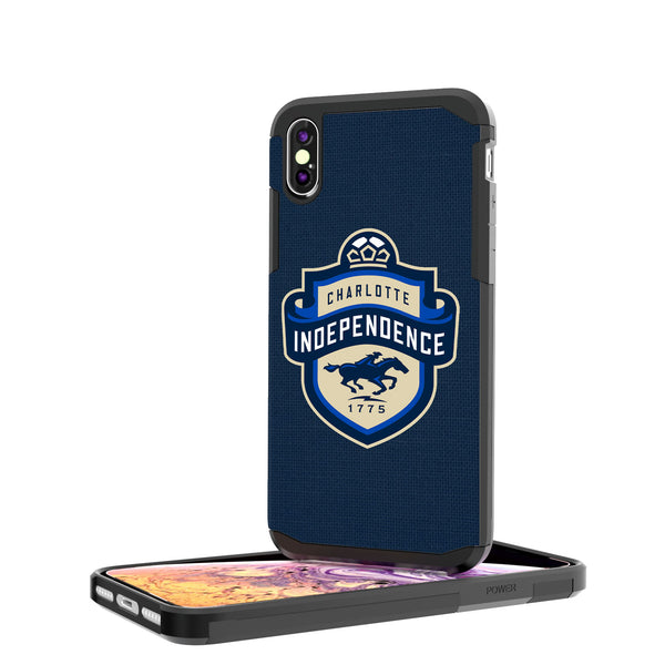 Charlotte Independance  Solid iPhone XS Max Rugged Case