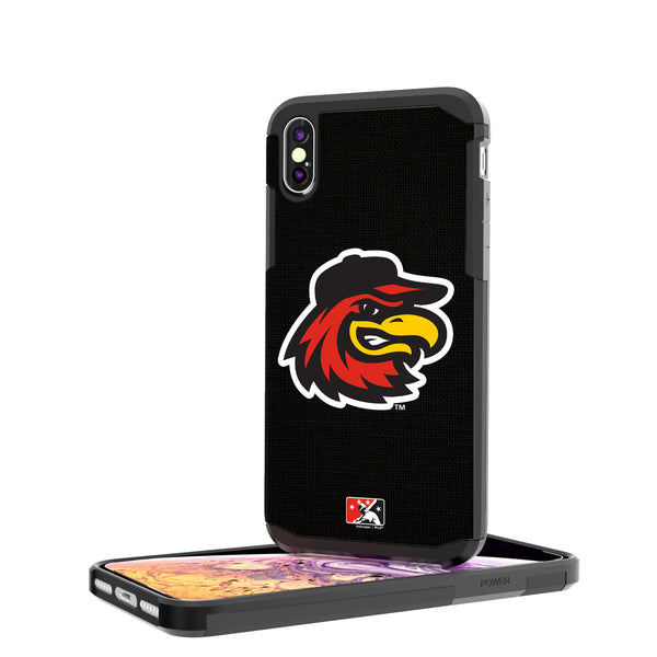Rochester Red Wings Solid iPhone XS Max Rugged Case