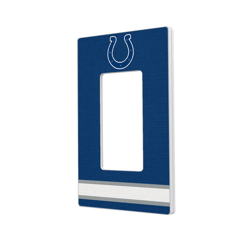 Indianapolis Colts Stripe Hidden-Screw Light Switch Plate - Single Rocker