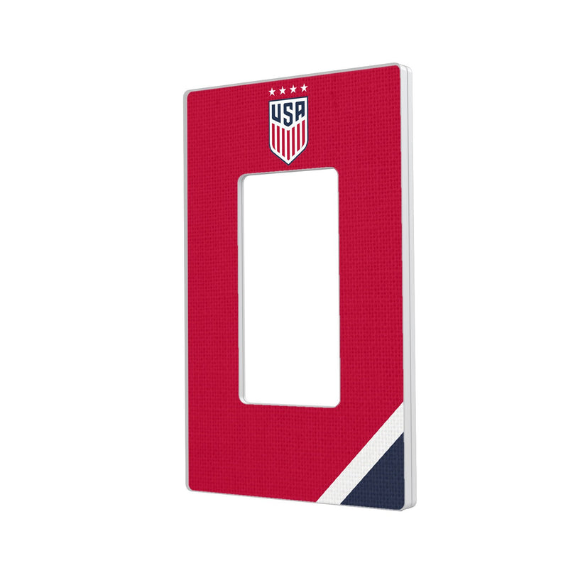 United States Womens National Team Diagonal Stripe Hidden-Screw Light Switch Plate - Single Rocker