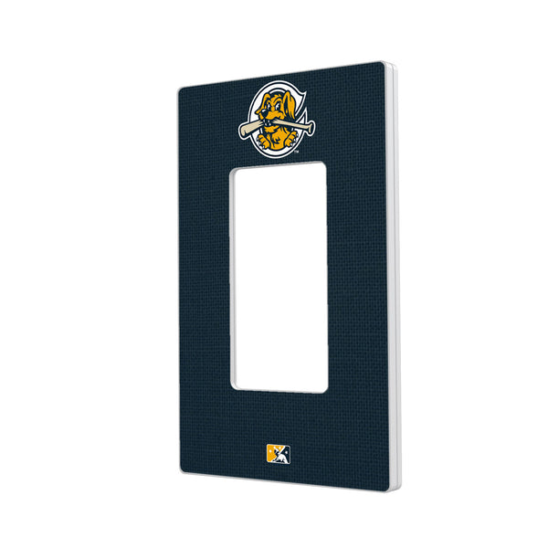 Charleston RiverDogs Solid Hidden-Screw Light Switch Plate - Single Rocker