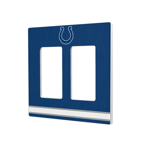 Indianapolis Colts Stripe Hidden-Screw Light Switch Plate - Double Rocker