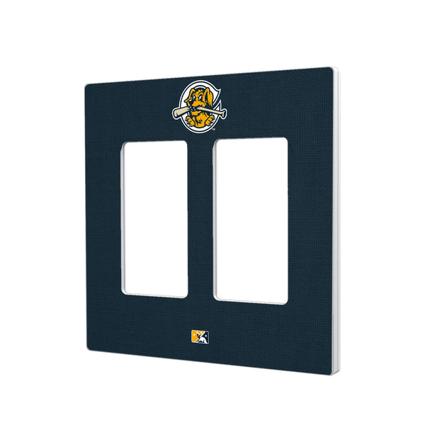 Charleston RiverDogs Solid Hidden-Screw Light Switch Plate - Double Rocker