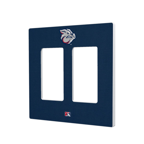 Lehigh Valley IronPigs Solid Hidden-Screw Light Switch Plate - Double Rocker