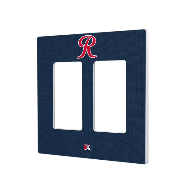 Tacoma Rainiers Solid Hidden-Screw Light Switch Plate - Double Rocker