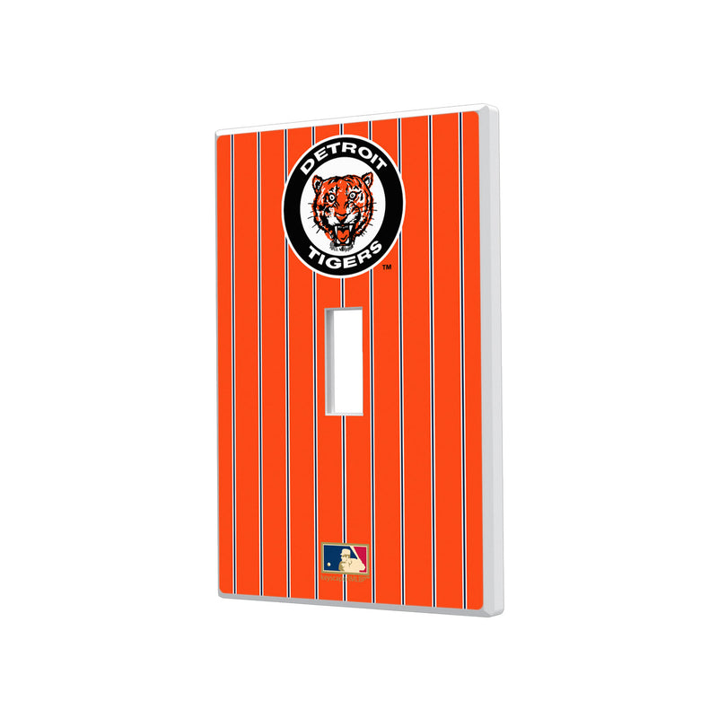 Detroit Tigers 1961-1963 - Cooperstown Collection Pinstripe Hidden-Screw Light Switch Plate - Single Toggle