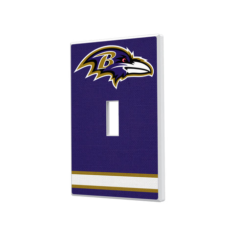 Baltimore Ravens Stripe Hidden-Screw Light Switch Plate - Single Toggle