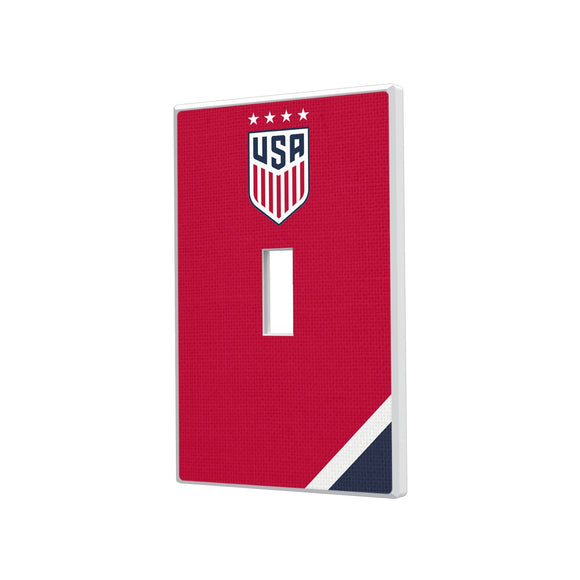 United States Womens National Team Diagonal Stripe Hidden-Screw Light Switch Plate - Single Toggle