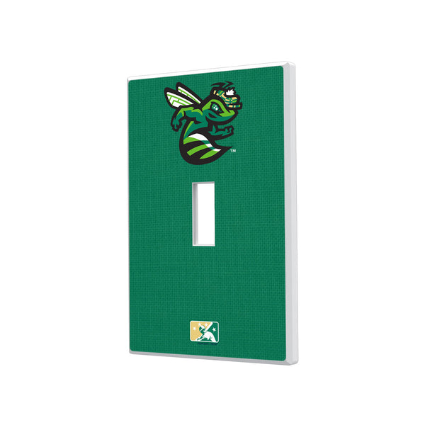 Augusta GreenJackets Solid Hidden-Screw Light Switch Plate - Single Toggle