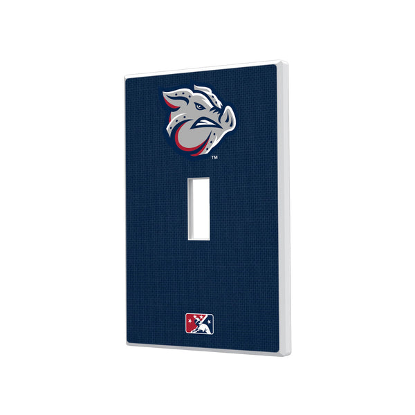 Lehigh Valley IronPigs Solid Hidden-Screw Light Switch Plate - Single Toggle